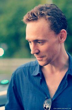 Tom wearing a beautiful blue dress shirt that makes his eyes pop.
