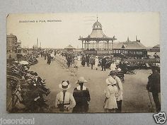 Postcard J Bandstand Pier Worthing Sussex Sepia Print Posted 1922 | eBay     BUT THIS IS WAY BEFORE MY TIME!