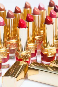 A line up of lipsticks