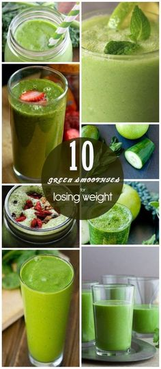 Healthy Green Smoothies to Lose Weight #LoseWeight
