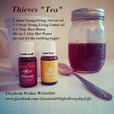 Young Living Lemon & Thieves Essential Oils: Cold Cough Flu