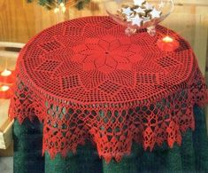 Get 35 crochet lace tablecloth patterns for free that you can easily make. Tons of photos to choose from and beautiful tablecloth lace patterns. Crochet Amigurumi Free Patterns, Crochet Doily Patterns, Crochet Mandala, Filet Crochet, Crochet Designs, Crochet Towel, Crochet Dollies, Hand Crochet, Crochet Lace