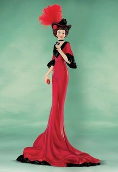 """Coca-Cola - """"Elegance of Coca Cola"""" -  Satisfying Time Out Coke Lady Figurine"""