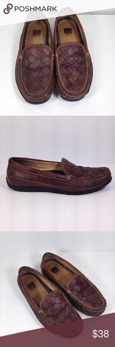 bd10eb7a1 J amp M Sheepskin Memory Foam Leather Woven Loafers J amp M Johnson Murphy Men s  10.5