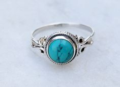 silver Turquoise ring,Turquoise stone ring, silver ring, Turquoise ring, 925 sterling silver ring, stone ring,RNSLTR2 by silverplace99 on Etsy https://www.etsy.com/listing/222818805/silver-turquoise-ringturquoise-stone
