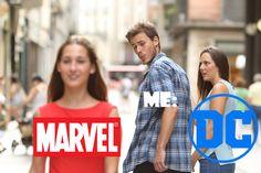 DC vs Marvel. So hard to decide...