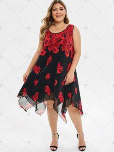 Длинные платья и сарафаны для полных модниц американского бренда Rosegal лето 2019