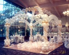 New 50 Balloon Arch Strip Wedding Bridal Birthday Party Quinceanera Decoration Wedding Balloon Decorations, Quinceanera Decorations, Wedding Balloons, Birthday Balloons, Birthday Parties, Kid Parties, Quinceanera Ideas, Simple Wedding Reception, Wedding Spot