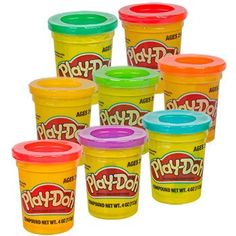 Play-Doh Modeling Compound, 4-oz. Canisters (Set of 8)