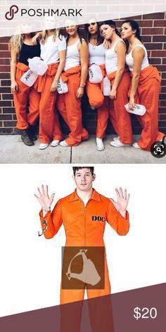 Prisonnier costume haut pantalon et chaînes forçat halloween fancy dress s-xxl
