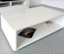 Table basse blanc brillant design CHUT SOFAMOBILI-94