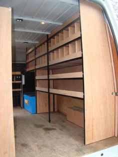 Van racking Metal Framed Racking Systems How Long to Install a New Roof? The roof is by far one of t Work Trailer, Cargo Trailer Camper, Travel Trailer Camping, Trailer Plans, Cargo Trailers, Utility Trailer, Trailer Shelving, Van Shelving, Trailer Storage