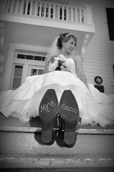 Fun idea for country brides, but i'll put it on my wedges :)