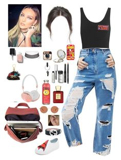 """""""Be-taking selfies with Perrie while on your band backstage"""" by onedirectionnhllz ❤ liked on Polyvore featuring Yummie by Heather Thomson, ASOS, Chiara Ferragni, Gucci, Oliver Peoples, Bella Bellissima, Bobbi Brown Cosmetics, River Island, Henri Bendel and PA Design"""
