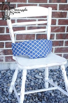 Navy quatrefoil print travel high chair - completely reversible with grey polka dots inside! This etsy store has tons of great neutral prints for baby.