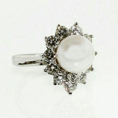 Always wanted my mom's ring. Mom box of jewelery inspiration. Diamond and pearl by JM Gems   www.jmgems.com