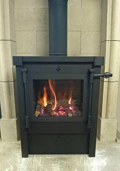 Beaufort gaskachel met de looks van een houtkachel via Anyfire