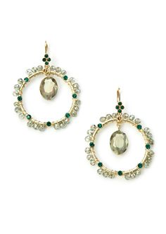 Wire Wrapped Earrings Wire wrapped earrings; Hanging bead; Latchback closure Jewelry