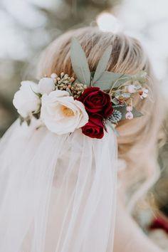 Flower Veil, Wedding Hair Flowers, Wedding Hair Pieces, Wedding Hair And Makeup, Bridal Flowers, Wedding Hair Accessories, Flowers In Hair, Floral Wedding, Veil With Flowers