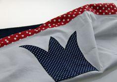 ♛+Kuscheldecke+Krone+rot-weiß-dunkelblau+70*90cm+♛+von+Fadenring+&+Co+auf+DaWanda.com