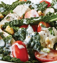 Hail Kale Chicken Caesar with Creamy Chive Dressing