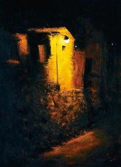 북 촌 @ljwa5147 / 김성호.    <새벽 골목길> / #골목 #그림 / 2013 08 29 / Mimosas, Paintings, Drawing, Abstract, Night, Street, Artwork, Summary, Work Of Art