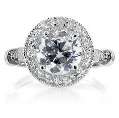 diamond rings   Fake Antique Diamond Engagement Ring