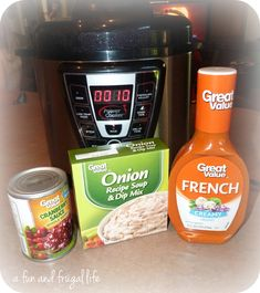 Electric Pressure Cooker Cranberry Chicken from A Fun and Frugal Life