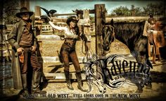 www.RavennaOldWest.com clothing design by Jenna Miller. Backdrop courtesy of Tombstone Monument Guest Ranch in Tombstone, AZ with film actor Craig Hensley.
