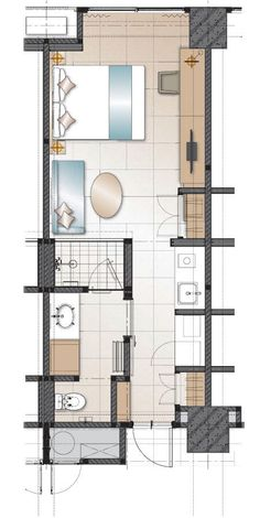 AXIA South Cikarang Comfort TW2 33 sqm Micro Apartment, Small Apartment Design, Tiny Apartments, Apartment Furniture Layout, Apartment Layout, Hotel Room Design, Room Planning, Bedroom Layouts, Architecture Plan