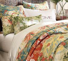 Beach Palm Patchwork Quilt
