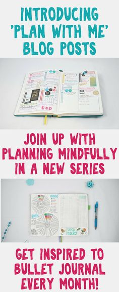 Introducing something new to Planning Mindfully- a Plan With Me series! Learn how I create my bullet journal spreads and planner layouts for the month ahead. You'll find out what tools I use and how I optimize my posts every month for optimal efficiency! Bullet Journal Tracker, Bullet Journals, Journal Prompts, Journal Ideas, Glam Planning, Writing Lists, Bullet Journal How To Start A, Beautiful Notebooks, I Series