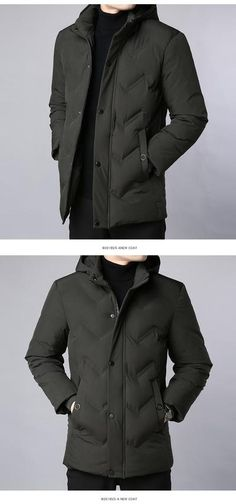c907f2bb044 2019 Thick New Winter Fashion Brand Jacket Men Korean Quilted Jacket  Streetwear Parkas Hooded Puffer Bubble Coat Mens Clothing
