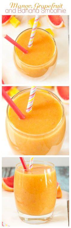 Mango, Grapefruit and Banana Smoothie | Annie's Noms