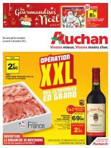 Catalogue Auchan Opération XXL des économies en grand du mercredi 26 novembre 2014 au mardi 2 décembre 2014 ( 26/11/2014 - 02/12/2014 )