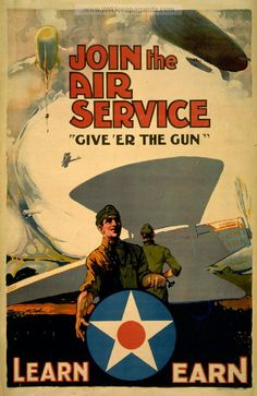 WW1 Aviation recruiting poster.