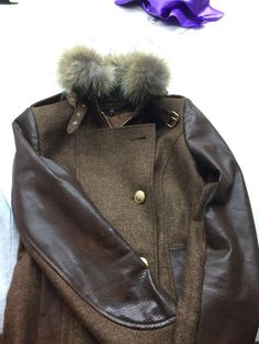 """The brand new and beautiful limited edition Mayfair in mocha tweed with snake skin arms and trim complete with fur collar - only 5 have been made. To pre order for £599 email sales@hollandcooper.com """"limited edition Mayfair """""""