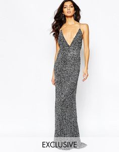 A Star Is Born   A Star Is Born Luxe Allover Sequin Cami Strap Maxi Dress With Red Carpet Train at ASOS