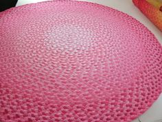 Deposit For Pretty In Pink Ombre Braided Rug By Greenatheartrugs, $125.00