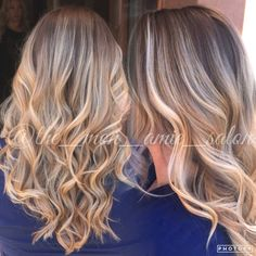Dark stretched root natural blonde  Hair by: Aly Tompkins Mon Amie Salon Redlands CA
