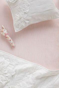Soft Stripes Crib Sheet