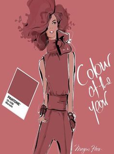 Pantone's 2015 Color of the Year Marsala by Megan Hess
