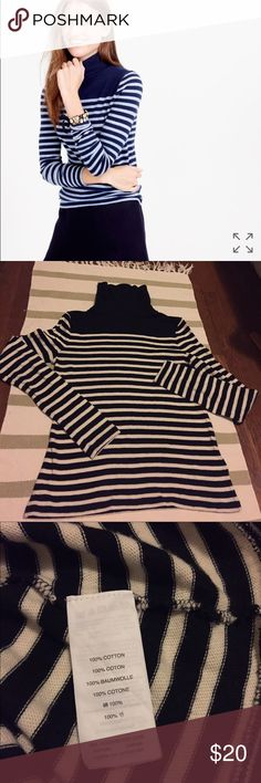 JCrew Striped turtleneck Slim fit.  True to size, soft and well made...so comfortable and flattering. J. Crew Tops Blouses