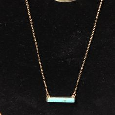 Necklace Faux gold tone turquoise necklace Jewelry Necklaces