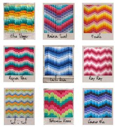 bargello crochet patterns - Google Search
