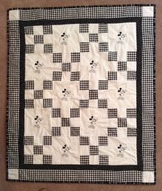Mickey Mouse Quilt, baby, toddler size by mommomsquilts on Etsy