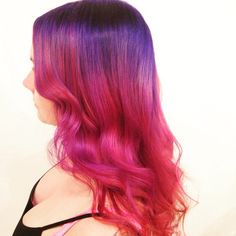 Purple pink ombre hair color style~ amazing eye-catching choice to dye hair~