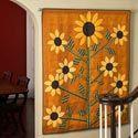 Sunflower Applique Wall Hanging - tutorial