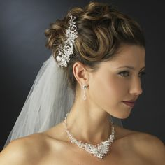 Crystal Wedding Hair Comb with Matching Jewelry Set - perfect for your wedding! affordableelegancebridal.com