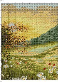 Gallery.ru / Фото #5 - 16 - TATO4KA6 / kolorowa łąka 2/5 Cross Stitch Art, Cross Stitch Flowers, Cross Stitch Designs, Cross Stitching, Cross Stitch Embroidery, Embroidery Patterns, Cross Stitch Patterns, Cross Stitch Landscape, Creative Embroidery
